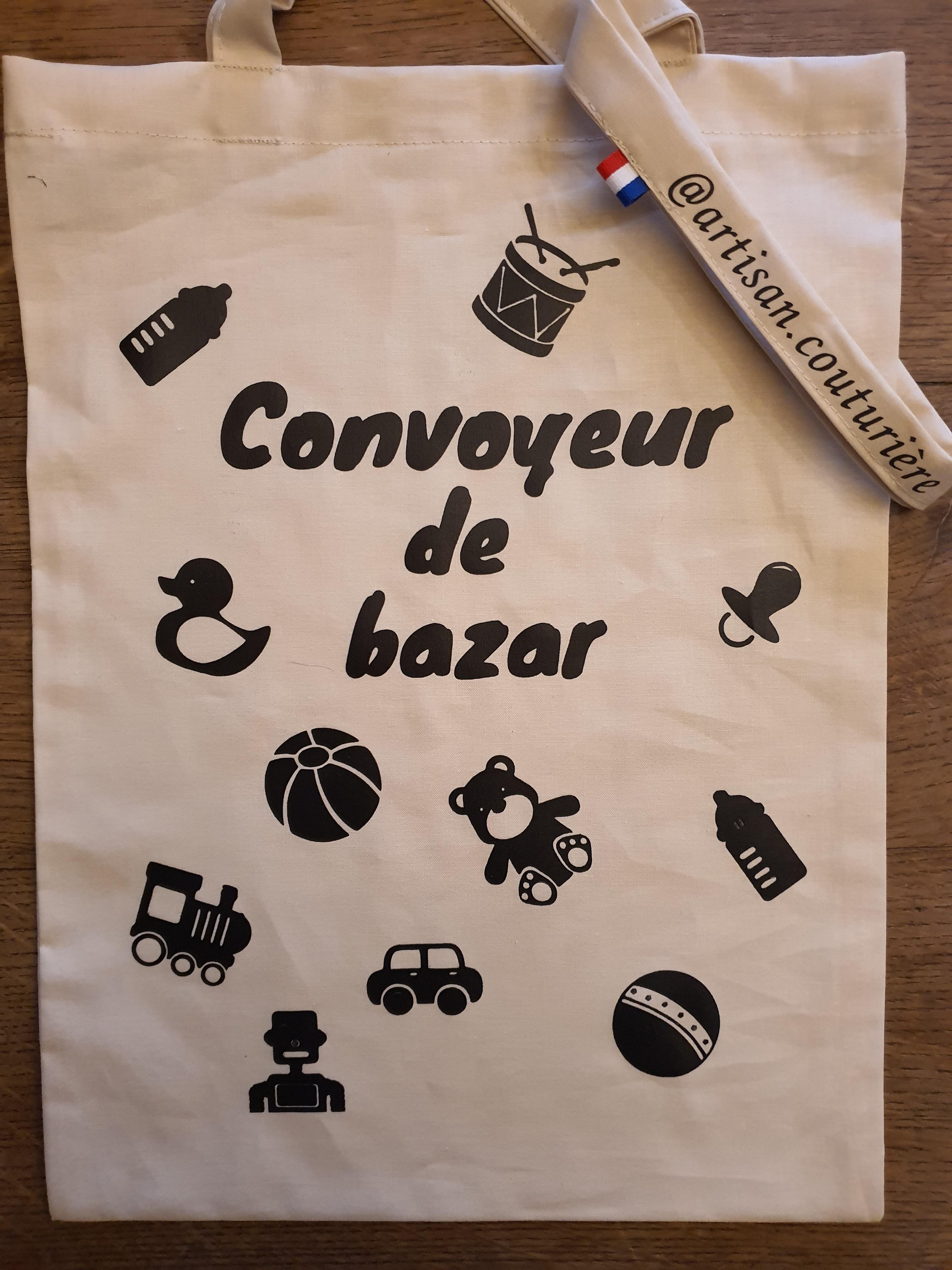 sac imprimé convoyeur de bazar