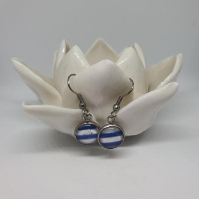 Boucles d'oreilles marinière