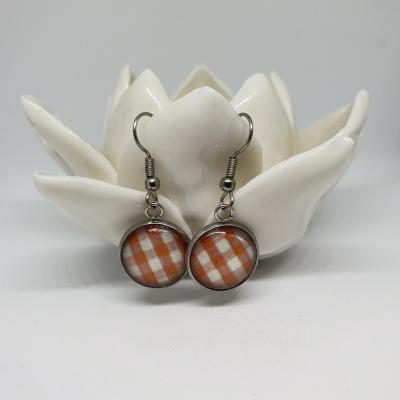 Boucles d'oreilles vichy